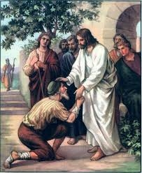Jesus helping poor